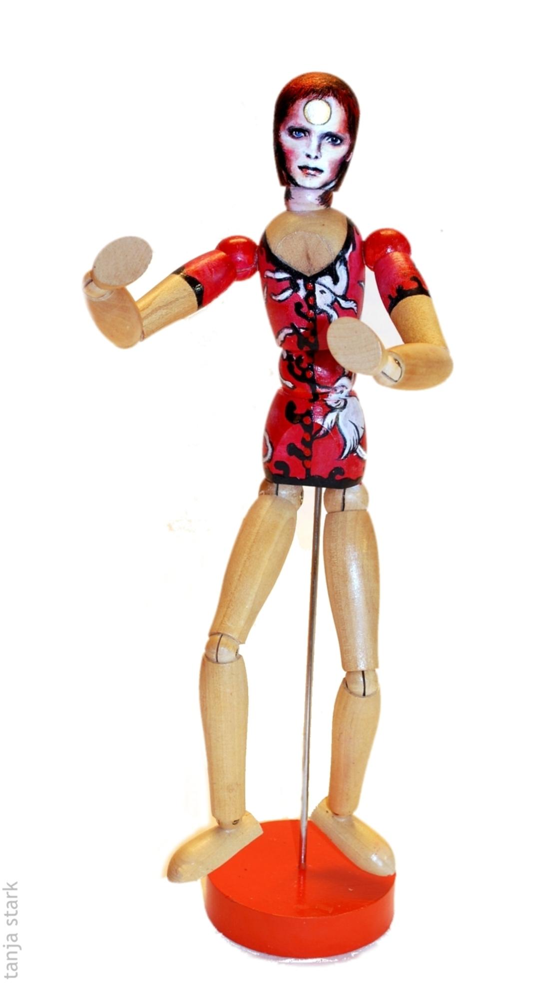 Miming Ziggy Stardust Pop Art Mannequin
