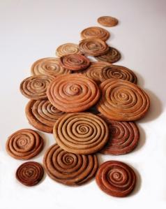 terracotta spiral coils