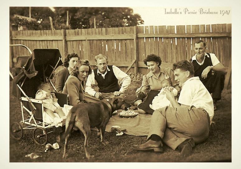 Suburban Picnic in Post War Brisbane circa 1947