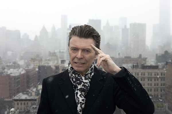 The Peacock in the Snow. David Bowie photographed by Jimmy King 2013